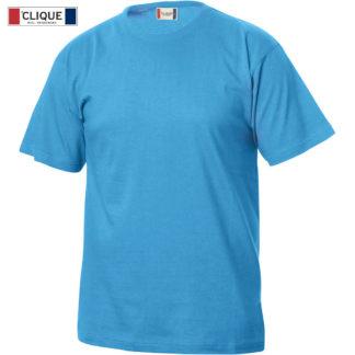 tshirt basic-t junior bambino turchese