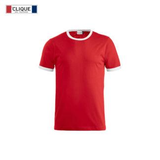 tshirt nome kids rosso/bianco