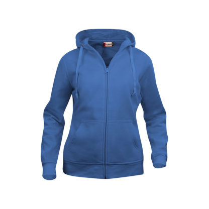 felpa basic hoody full zip donna royal blue