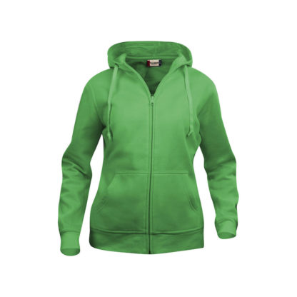 felpa basic hoody full zip donna verde acido
