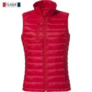 gilet hudson vest donna rosso