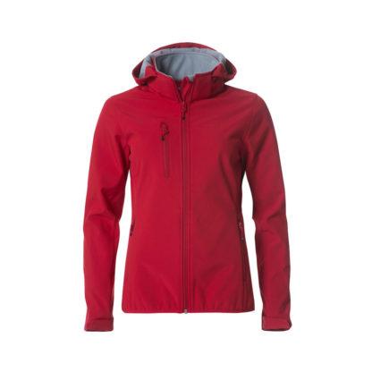 softshell basic hoody softshell ladies donna rosso