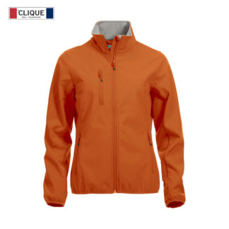 softshell basic softshell jacket donna arancione