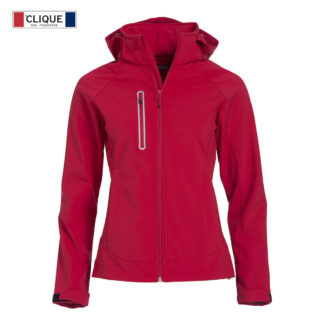 softshell milford jacket ladies donna rosso