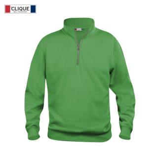 felpa basic half zip unisex verde acido