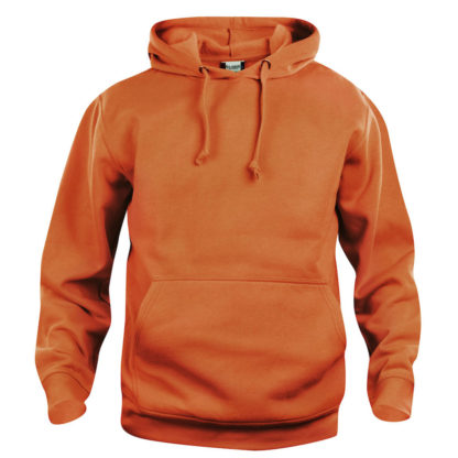 felpa basic hoody unisex arancione