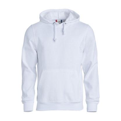 felpa basic hoody unisex bianco