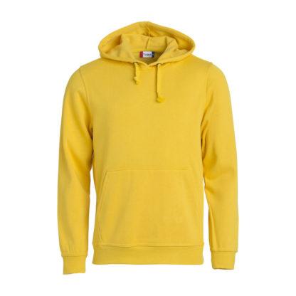 felpa basic hoody unisex giallo