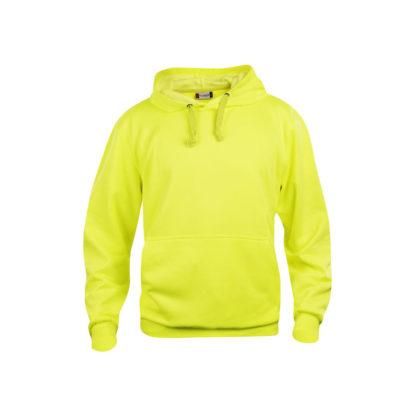 felpa basic hoody unisex giallo high visibility