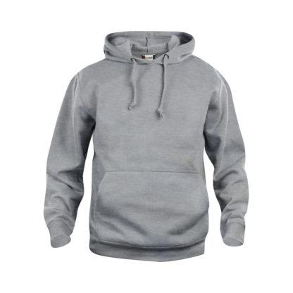 felpa basic hoody unisex grigio melange