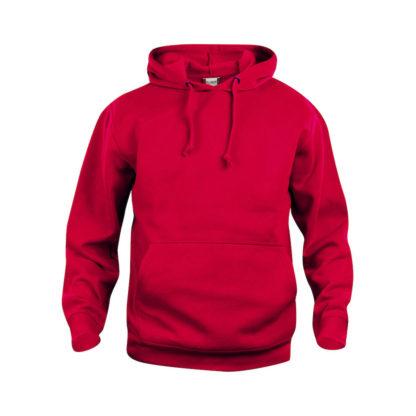 felpa basic hoody unisex rosso
