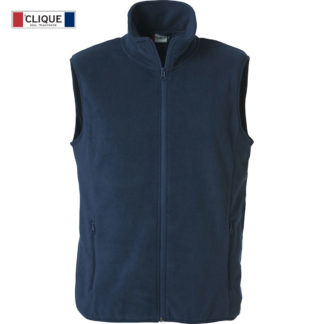 pile basic polar fleece vest unisex blu