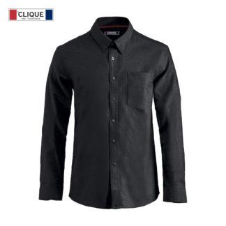 camicia oxford uomo nero
