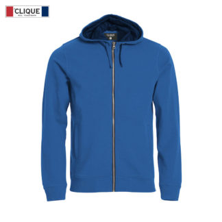felpa classic hoody full zip uomo royal blue