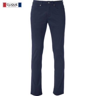 pantaloni 5-pocket stretch uomo blu