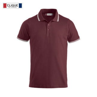 polo amarillo uomo bordeaux