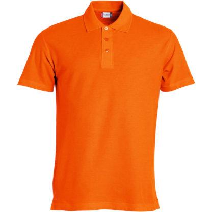 polo basic uomo arancione