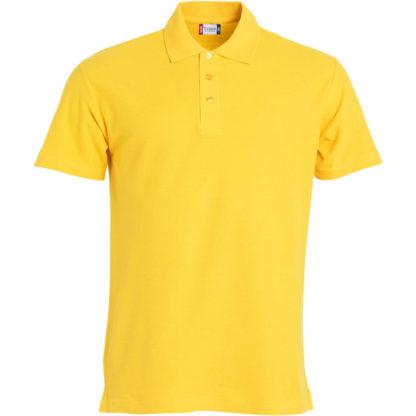 polo basic uomo giallo