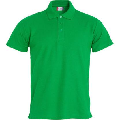 polo basic uomo verde acido