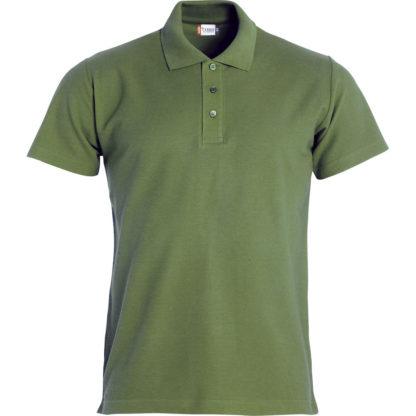 polo basic uomo verde militare