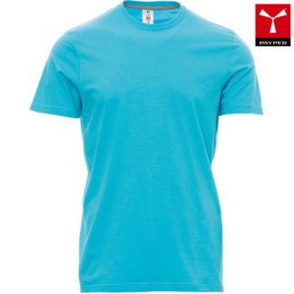 tshirt sunset uomo atoll blue
