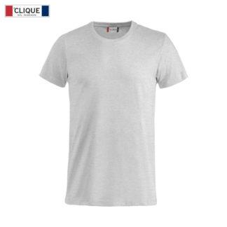 T-shirt base uomo clique grigio cenere