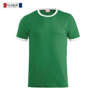 t-shirt nome uomo verde/bianco