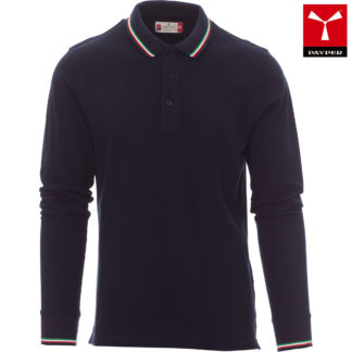 polo aviazione unisex navy blue italy