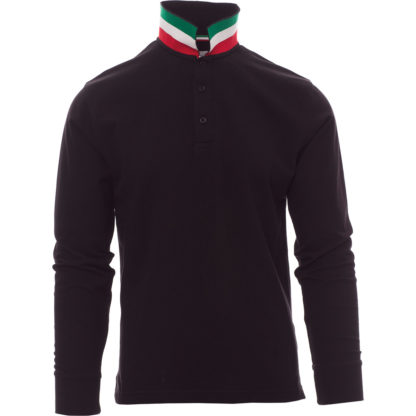 polo long nation uomo BLACK