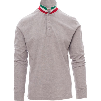 polo long nation uomo MELANGE GREY