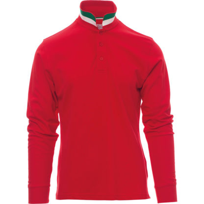 polo long nation uomo RED