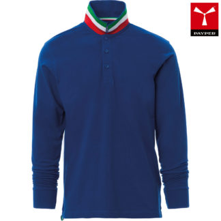 polo long nation uomo ROYAL BLUE