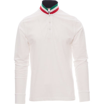 polo long nation uomo WHITE