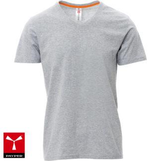 tshirt v-neck uomo melange grey