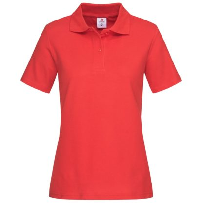 polo donna st3100 SCARLETRED