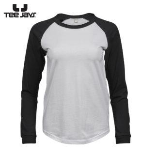 tshirt donna baseballtee whiteblack 314