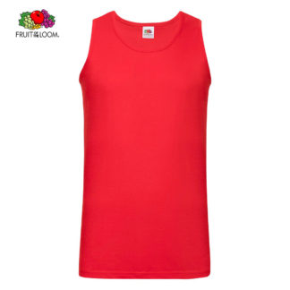 canotta valueweightathleticvest red 40