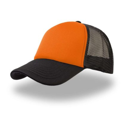 cappellino-ATLANTIS-rapper-orangeblack
