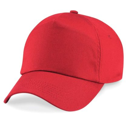 cappellino-BEECHFIELD-original5panelcap-brightred