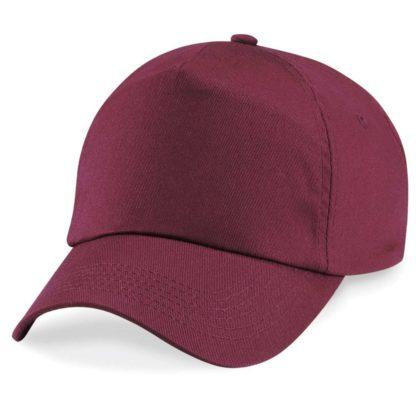 cappellino-BEECHFIELD-original5panelcap-burgundy