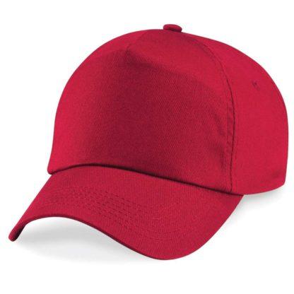 cappellino-BEECHFIELD-original5panelcap-red