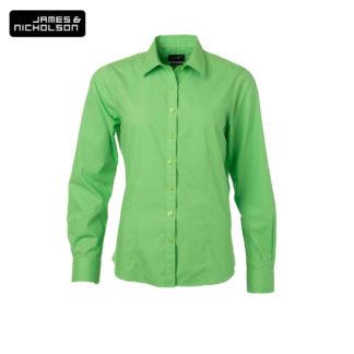 donna-camicia-ladyshirtLSpoplin-limegreen