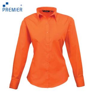donna-camicia-poplinLSblouse-orange