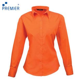 donna-camicia-poplinLSblouse-orange
