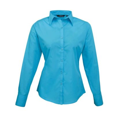 donna-camicia-poplinLSblouse-turquoise
