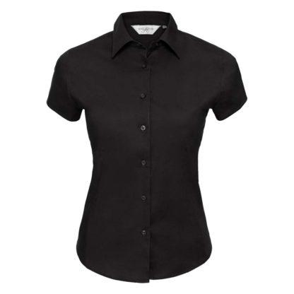 donna-camicia-ladiesSSfittedshirt-black
