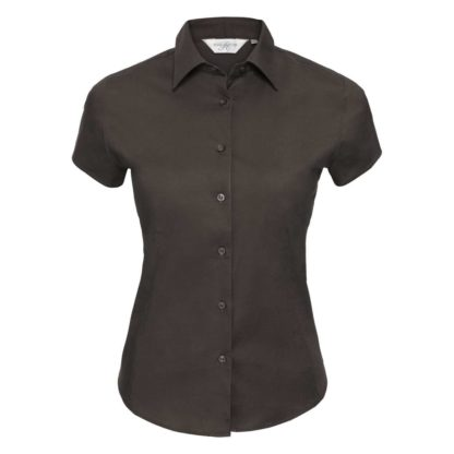 donna-camicia-ladiesSSfittedshirt-chocolate