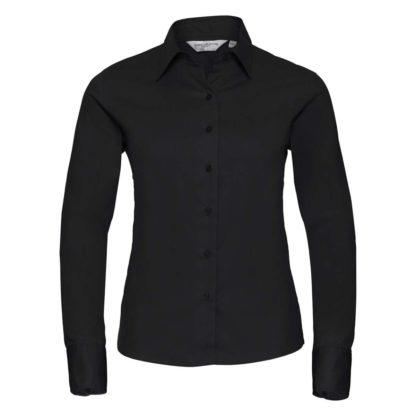 donna-camicia-ladyLSclassictwillshirt-black