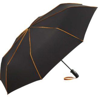 ombrello-FARE-miniumbrellaseam-blackorange