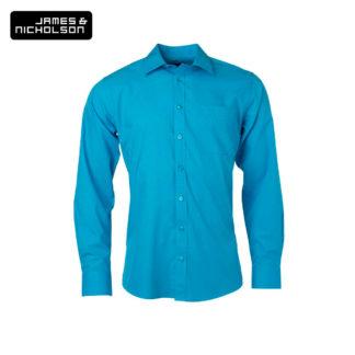 uomo-camicia-menshirtLSpoplin-turquoise